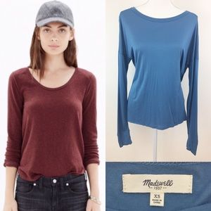 Madewell | Long Sleeve Drapey Top Size XS